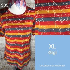 LuLaRoe Tops - LuLaRoe Americana Gigi